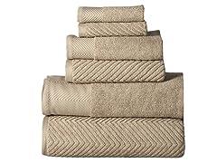 100% Cotton Jacquard 6-Piece Towel Set