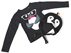 Girls Penguin Hat & Tee