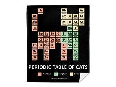 """""""Cat Periodic Table"""" Mink Fleece Blanket"""
