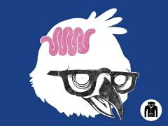 Bird Brain Zip Hoodie