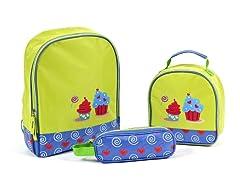 Aquarella Kids Green Cupcake 3-Pc Bundle