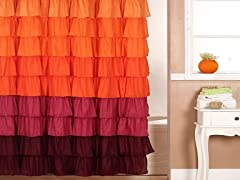 Harvest Ruffle Shower Curtain