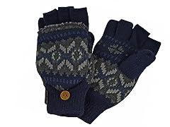 MUK LUKS®Men's Nordic Flip Mittens, Blue