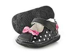 Mary Jane Squeaker - Pink Bow (3-8)
