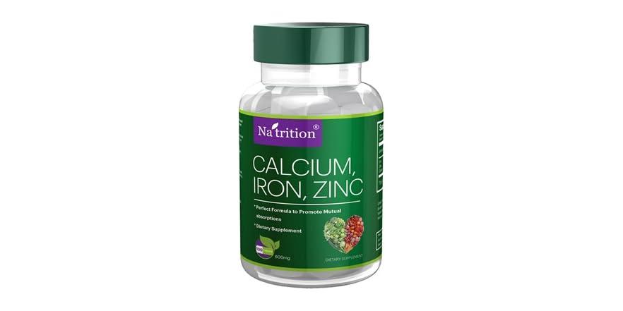 amount of calcium iron and zinc Gnc offers quality magnesium, potassium, iron, calcium supplements to support a variety of needs gnc  solgar® calcium magnesium plus zinc 0 size 100 tablet(s).