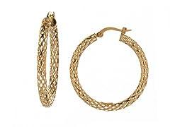 14kt Yellow Gold Pierced Tube Earrings
