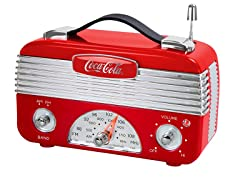 Coca-Cola Vintage Battery-Operated AM/FM Radio