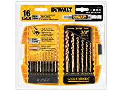 DeWALT 16-Piece Pilot Point Drill Bit Set