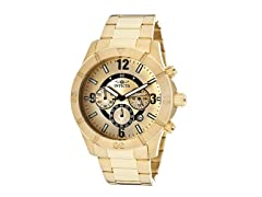 Invicta Men's Chronograph, 18K Gold