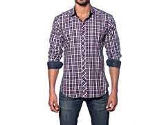 Jared Lang Dress Shirt, Navy/Fuchsia