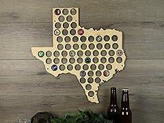 Beer Cap Map: Texas