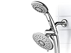 Dream Spa 1841 30-Setting 6 Inch Rain Shower Head & Hand Shower Combo