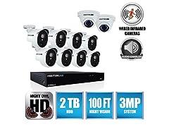 Night Owl 16-Ch System w/ DVR & 10 Cams