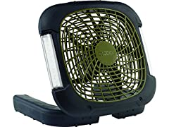 "Treva 10"" Battery Powered LED Light Fan"