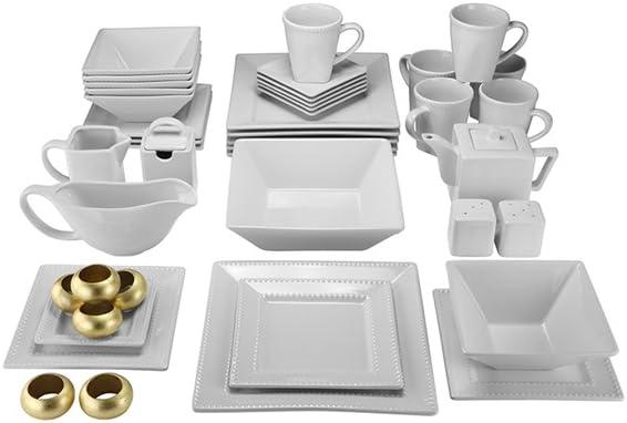 45 Pc Square Beaded Dinnerware Set White  sc 1 st  Castrophotos & White Beaded Dinnerware - Castrophotos