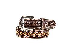 M&F Western Boy's Embroidered Belt