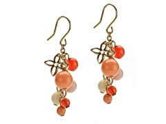 Relic Multicolor Beaded Earrings, Gold