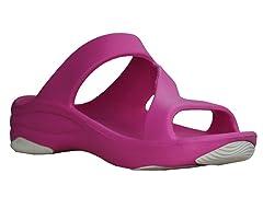 Women's Premium Z Sandal, Hot Pink / Whit