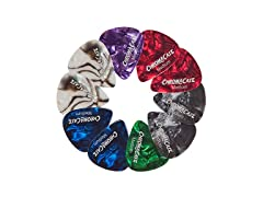 ChromaCast Pearl Celluloid Guitar Pick (Medium Gauge) - 10