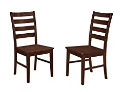 Ladder Back Dining Chairs, 2PK