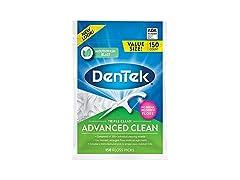 DenTek Triple Clean Advanced Clean Floss Picks, 150 Count