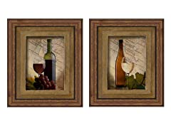 Old Napa 2PC Set Framed 21x25