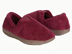 Women's Petal Spiral Fleece Espadrille Slipper, Red
