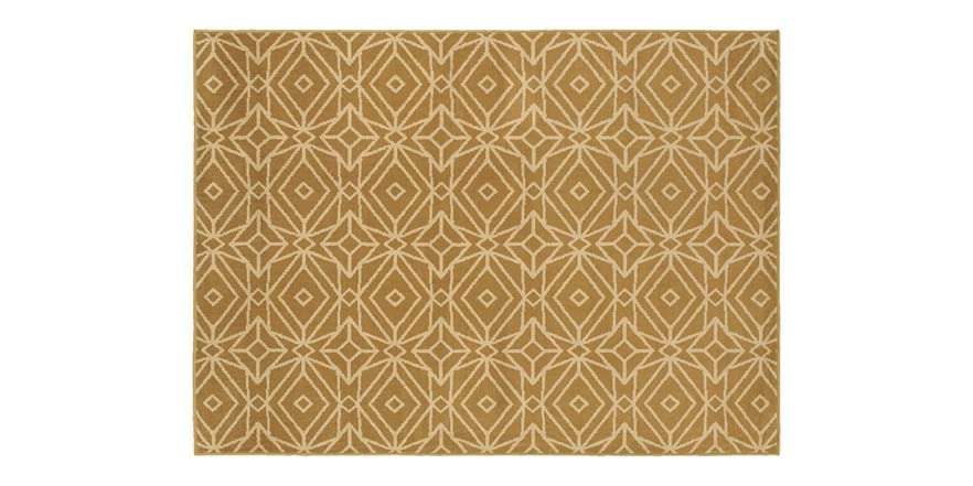 Sybil Gold Indoor Area Rug Pick Size
