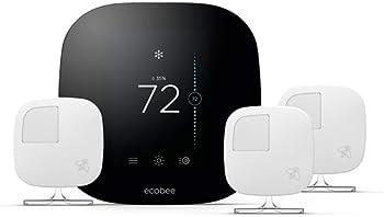 ecobee3 Smart WiFi Thermostat & 3 Room Sensors