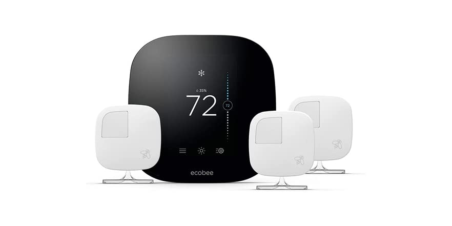 Ecobee3 Smart Thermostat & 3 Room Sensors, Compatible with Alexa (New or Open Box)   WOOT