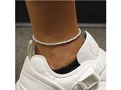 Sterling Silver Sparkle Anklet