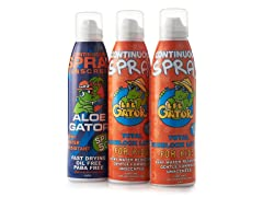 Aloe Gator Kid/Adult Sunscreen Combo 3pk