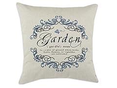 Garden Gate Indigo 26x26