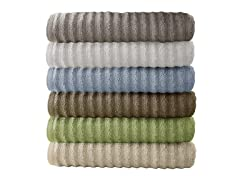 6-Piece Luxury Spa Wavy Quick-Dry Towel Set