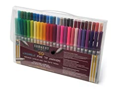 Sargent Art 50 Washable Markers - Fine Tip