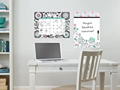 Floral Medly Dry Erase Combo