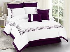 Klyne Embellished 8 Piece Comforter Set- Queen