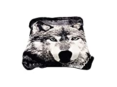 Wolf Throw Animal Blanket