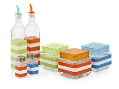 Ragalta 7-Pc Glass Canister & Condiment Set