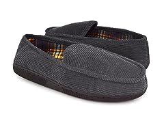 Corduroy Moccasin Flannel Lining, Grey