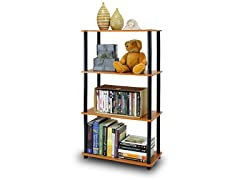 Turn-N-Tube 4-Tier Shelf  Lt Cherry