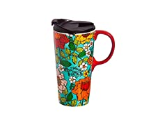 Cypress Home Ceramic Floral Coffee Mug