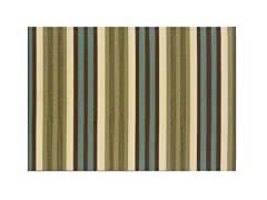 Monte Carlo Green Stripe Rug-7 Sizes