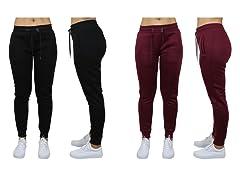 Womens Classic Fleece Jogger Pants