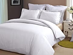 Hotel Peninsula Duvet Set-White-2 Sizes