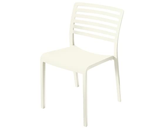 Plastic modern dining chairs cream for Contemporary plastic dining chairs