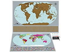 Tephran Scratch-Off Map Of The World Bundle