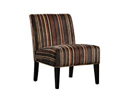 Sanibel Brown Tone Stripe Accent Chair