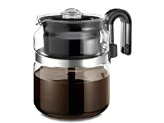 Stove Top Percolator, 8 Cups, Clear/Glass