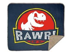 RAWR! Sherpa Blanket